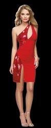Ruby Stretch Sequin Club Dress, Sexy Red Club Wear Dress, Sexy Red Sequin Dress
