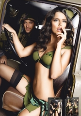 Army Bedroom Costume, Army Lingerie Costume