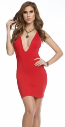 Forplay 882693, Sexy Clubbing Mini Dress, V Neck Mini Dress