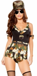 Sergeant Hottie Costume, Army Costumes, Sexy Army Costume