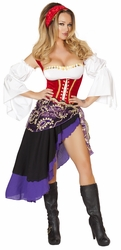 Sexy Gypsy Maiden Costume, Roma Gypsy Costume 4532, Gypsy Halloween Costume