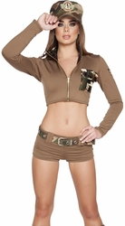 Sexy Soldier Babe Army Costume, Army Costumes, Women Army Outfit