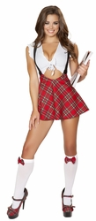 High Waisted School Girl Costume, Sexy Study Partner Costume, Roma Schoolgirl Costume 4549