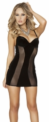 Clubbing Mini Dress, Black Mini Dress, Roma 3147