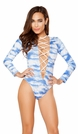 EDC Rompers, Sleeved EDC Festival Romper, Long Sleeve Rave Romper
