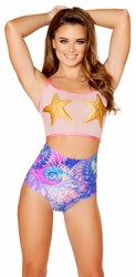 Starfish Tank Top and High Waisted Short, Rave Clothing, Tank Top and Shorts