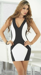Two Tone Mini Dress, Tank Mini Dress, Clubwear