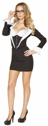 Three Piece Sassy Secretary Costume, Roma Costume 4552