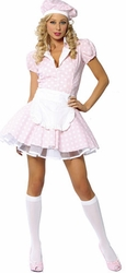 Three Piece Sweet Shoppe Girl Costume, Sale Halloween Costumes for Women, Sale Costumes