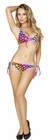 Two Piece Pinup Polka Dot Tie Side Bottoms and Top