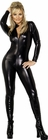 Whiplash Zipper Black Catsuit