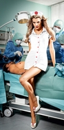 White Nurse Coat, Sexy Nurse Costume, Bedroom Nurse Costume