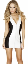 Zip Up Mini Dress, Clubbing Mini Dress, Roma Costume 3139