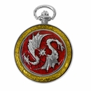 Celtic Pocket Watch Red Dragon PW74