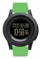 REACT! RA3031 LED Sport Green Silicone Band Black Dial Mens Watch