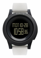 REACT! RA3032 LED Sport White Silicone Band Black Dial Mens Watch