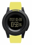 REACT! RA3034 LED Sport Yellow Silicone Band Large Face Mens Watch