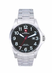 Swiss Mountaineer SM8030 Silver Tone Easy Read Dial Mens Watch