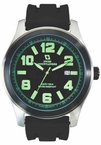 Swiss Mountaineer SM8042 Green Numerals Date Display Mens Watch