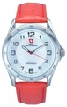 Swiss Mountaineer SM8051 Red Leather Band White MOP Dial Ladies Watch
