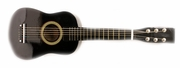 23 Inch Black Acoustic Toy Guitar for Kids - & DirectlyCheap(TM) Translucent Blue Medium Guitar Pick - Click to enlarge