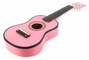 23 Inch Pink Acoustic Toy Guitar for Kids - & DirectlyCheap(TM) Translucent Blue Medium Guitar Pick - Click to enlarge