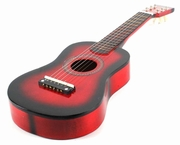 23 Inch Red Acoustic Toy Guitar for Kids - & DirectlyCheap(TM) Translucent Blue Medium Guitar Pick - Click to enlarge