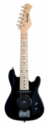 30 Inch Black Half Size Junior Kids Electric Guitar with Built in Amp - & DirectlyCheap(TM) Blue Medium Guitar Pick  - Click to enlarge