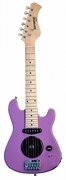 30 Inch Purple Half Size Junior Kids Electric Guitar with Built in Amp - & DirectlyCheap(TM) Blue Medium Guitar Pick  - Click to enlarge