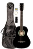 "36"" Inch 3/4 Scale Size Black Student Beginner Acoustic Guitar with Carrying Case & Accessories & DirectlyCheap(TM) Translucent Blue Medium Guitar Pick (A-PRO Series) [Teacher Approved]"