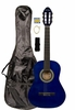 "36"" Inch 3/4 Scale Size Blue Student Beginner Acoustic Guitar with Carrying Case & Accessories & DirectlyCheap(TM) Translucent Blue Medium Guitar Pick (A-PRO Series) [Teacher Approved]"
