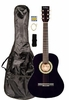 "36"" Inch 3/4 Scale Size Purple Student Beginner Acoustic Guitar with Carrying Case & Accessories & DirectlyCheap(TM) Translucent Blue Medium Guitar Pick (A-PRO Series) [Teacher Approved]"