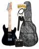 "32"" Black Junior Kids Mini 1/2 Size Electric Starter Guitar and Amplifier Pack with Free Gig Bag and Accessories & DirectlyCheap(TM) Translucent Blue Medium Guitar Pick"