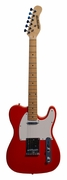 Full Size 39 Inch RED Electric Guitar [Telecaster TL Style] with Free Carrying Bag, Strap, & 2 Months Free Guitar Lessons & DirectlyCheap(TM) Pick - Click to enlarge