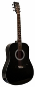 41 Inch Full Size Black Handcrafted Steel String Dreadnought Acoustic Guitar [Teacher Recommended] & DirectlyCheap(TM) Translucent Blue Medium Guitar Pick (PRO-1 Series) - Click to enlarge
