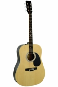 41 Inch Natural Handcrafted Steel String Acoustic Guitar - Click to enlarge