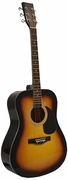 41 Inch Sunburst Handcrafted Steel String Acoustic Guitar - Click to enlarge