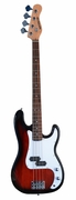 Full Size 4 String RED Precision P Electric Bass Guitar with Gig Bag and Accessories - Click to enlarge