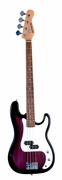 Full Size 4 String PURPLE Precision P Electric Bass Guitar with Gig Bag and Accessories (Includes, Strap, String, & DirectlyCheap(TM) Translucent Blue Medium Guitar Pick) - Click to enlarge