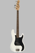 Full Size 4 String White (with Black) Precision P Electric Bass Guitar with Gig Bag and Accessories  - Click to enlarge
