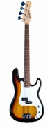 Full Size 4 String Sunburst Precision P Electric Bass Guitar with Gig Bag and Accessories - Click to enlarge