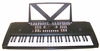 54 Keys Keyboard Electronic Digital Piano - with Notes Holder & AC Adapter & DirectlyCheap(TM) Translucent Blue Medium Pick - Color may vary