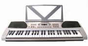 54 Keys Silver Keyboard Electronic Digital Piano - With notes Holder - with AC Adapter & DirectlyCheap(TM) Translucent Blue Medium Pick - Click to enlarge