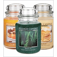 26 oz. Premium Round Village Candles