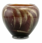 "CLOSEOUT-6"" Mahogany Esque Polished Vase Candle 