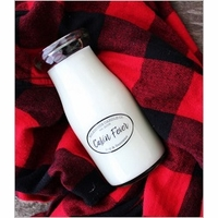 8 oz. Milkbottle Candles by Milkhouse Candle Creamery