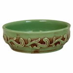 Antique Green Scallop Melter Cup | 4.75 oz. Swan Creek Candle Drizzle Melts