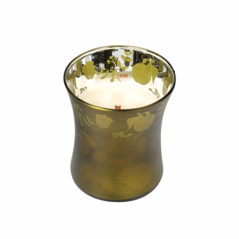 CLOSEOUT - *Apple Basket 10 oz. WoodWick Dancing Glass Candle