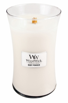 CLOSEOUT - Baby Powder WoodWick Candle 22 oz.