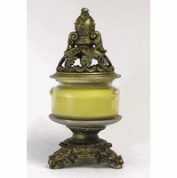 CLOSEOUT-Baroque Gold Finial Lid & Base for 11 oz.  Jar by Tyler Candle Company